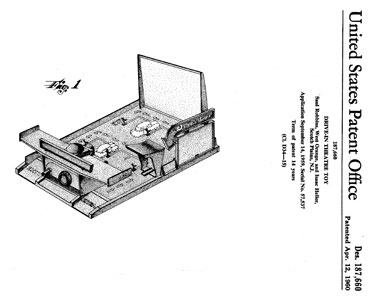 Movie-Land Drive-In patent - diagram 1
