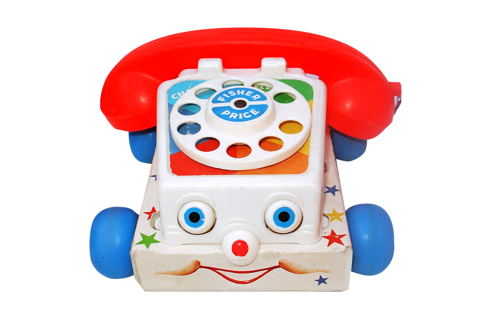 Chatter Phone From Fisher Price 1962 Lunch Box Toy
