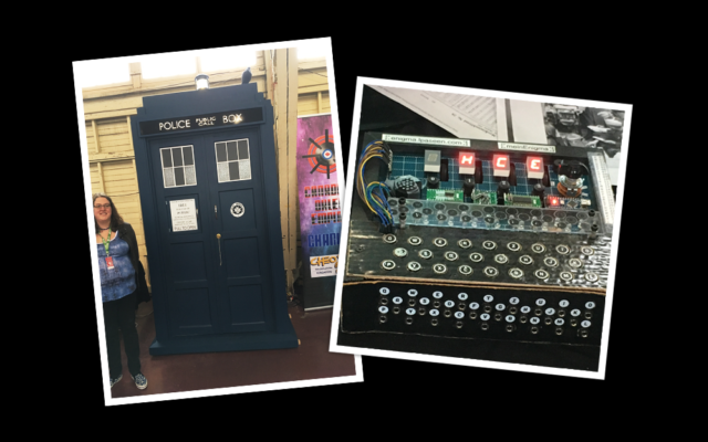 Ottawa Tardis's full-scale, fan built replica of the time machine from Doctor Who, and an Arduino-based replica of the German enigma machine.